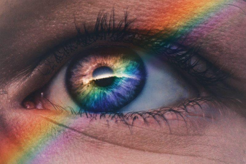 receptory w oku - wrażliwe na barwy