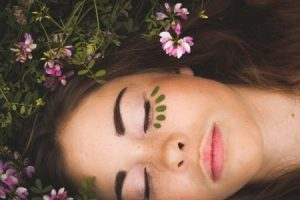 Natural cosmetics on the face