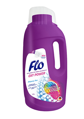 FLO<sup>&reg;</sup> OXY POWER STAIN REMOVER FOR COLOR FABRICS